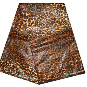 Tissu wax – leopard – panther – tigre – 100% Coton (6 YARDS)